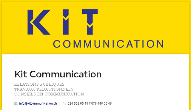 Site internet Kit Communication