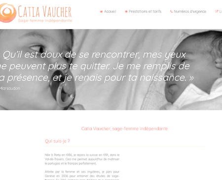 Catia Vaucher site internet